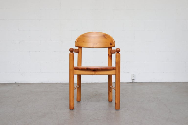 Set of 6 Rainer Daumiller Style Pine Dining Chairs For Sale 6