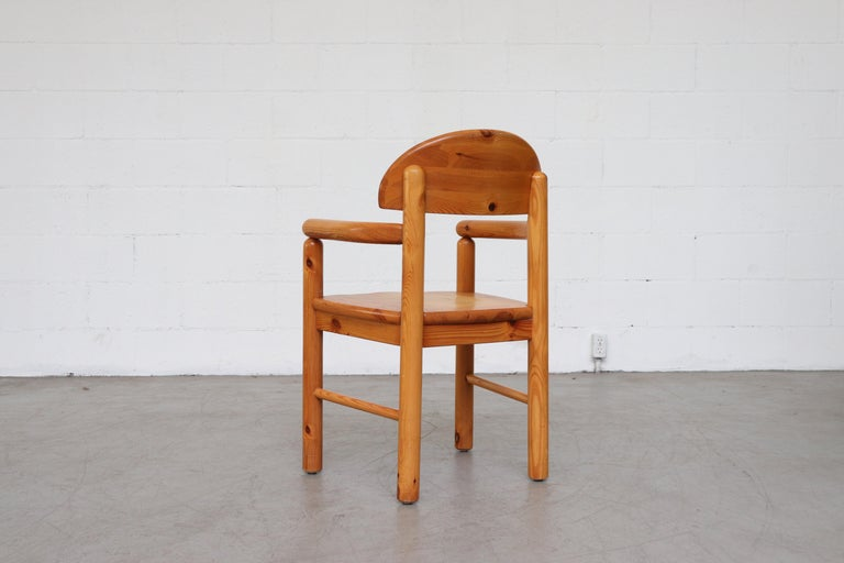 Set of 6 Rainer Daumiller Style Pine Dining Chairs For Sale 9