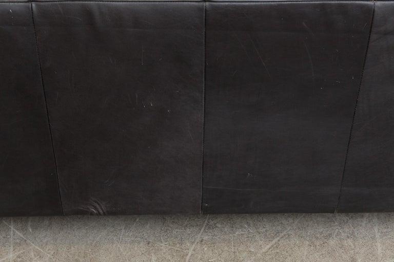 Montis Black Leather Sofa For Sale 6