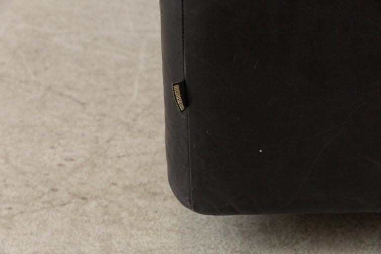 Montis Black Leather Sofa For Sale 5