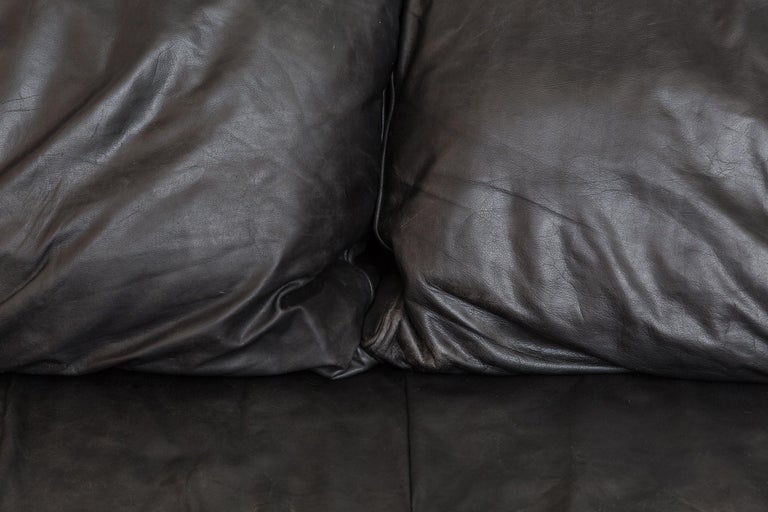 Montis Black Leather Sofa For Sale 2