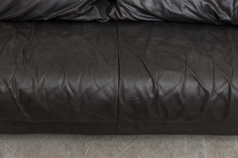 Montis Black Leather Sofa For Sale 3