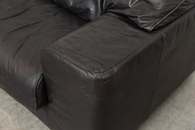 Montis Black Leather Sofa For Sale 4