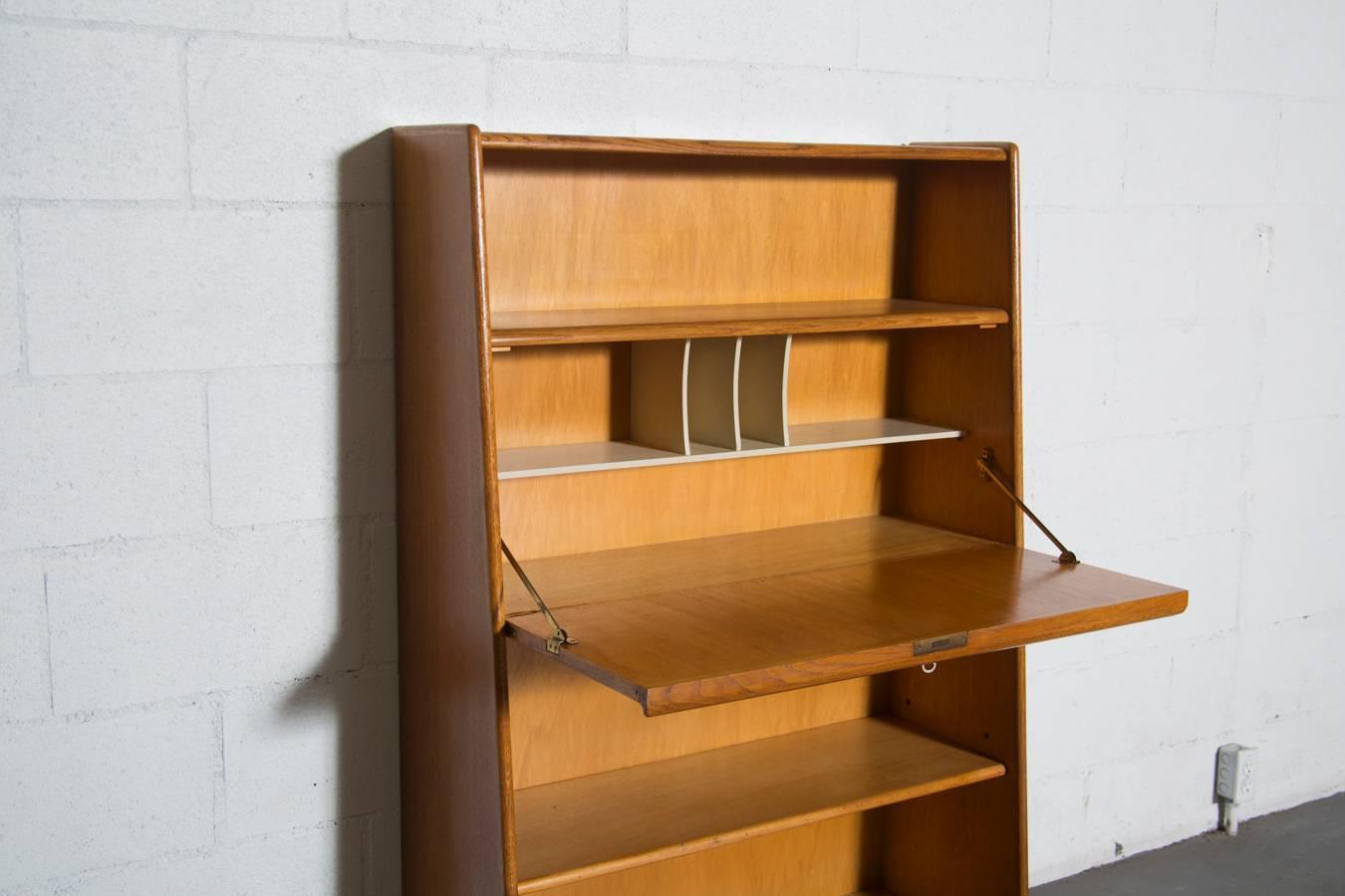 Cees Braakman for Pastoe Bookcase with Built in Desk at