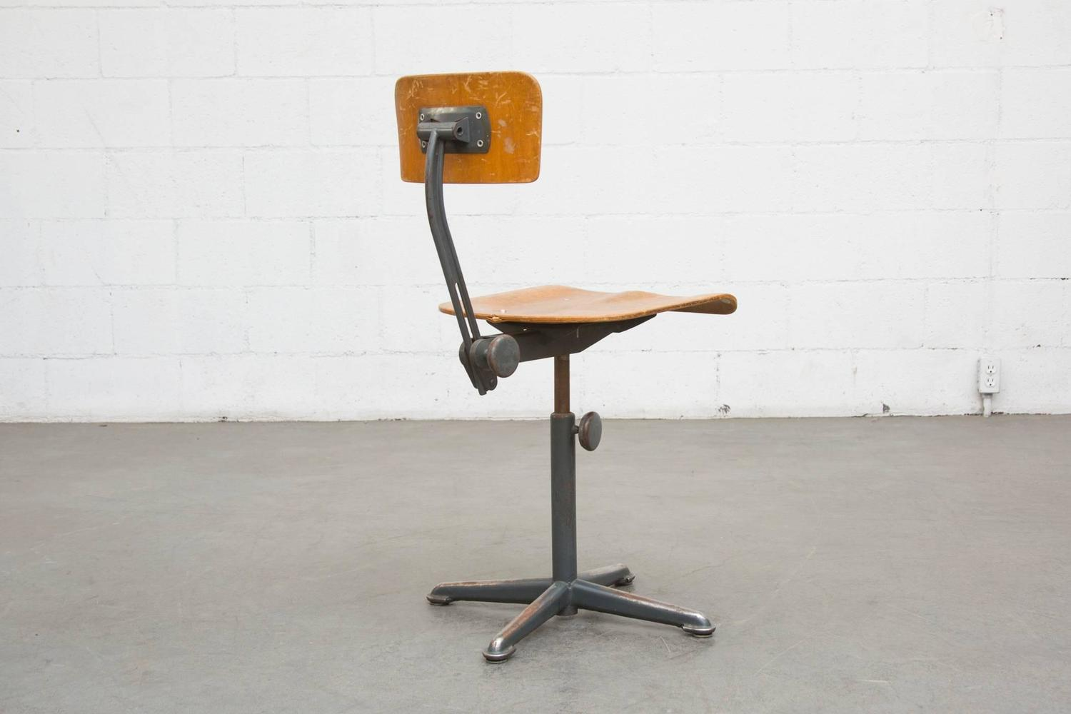 Friso Kramer Early Edition Drafting Stools For Sale At 1stdibs