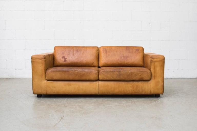 Natural Leather Two Cushion Sofa by Durlet at 1stdibs : S1851l from www.1stdibs.com size 768 x 512 jpeg 26kB