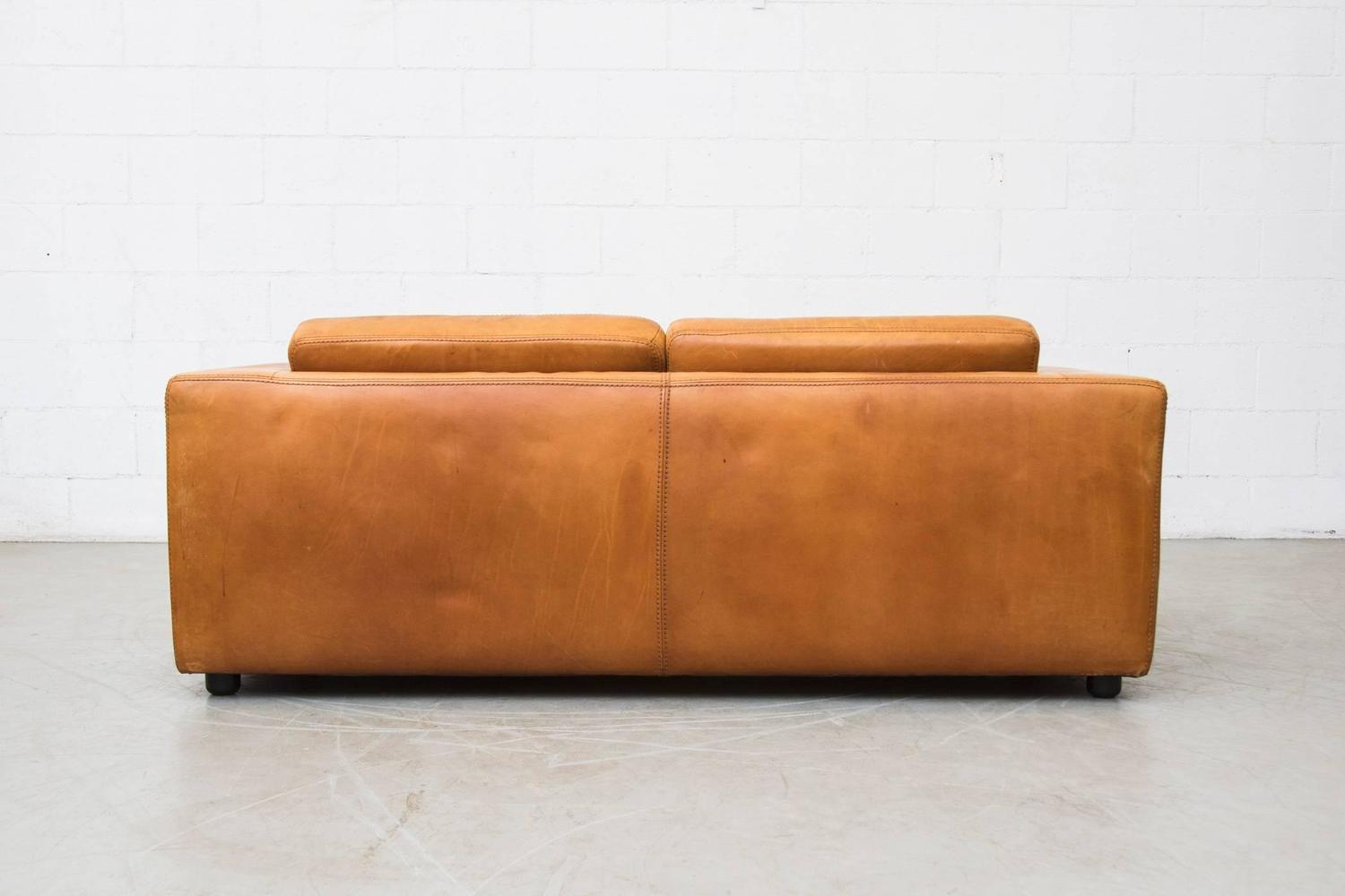 Natural Leather Two Cushion Sofa by Durlet at 1stdibs : C8A5351z from www.1stdibs.com size 1500 x 1000 jpeg 73kB