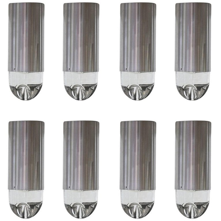 RAAK P-1414 Glass Ice Cube Style Ceiling Lights For Sale