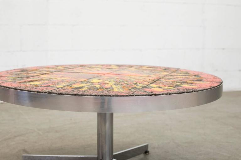 Mid-Century Modern Artistic Belarti Style Tile Table Coffee Table For Sale