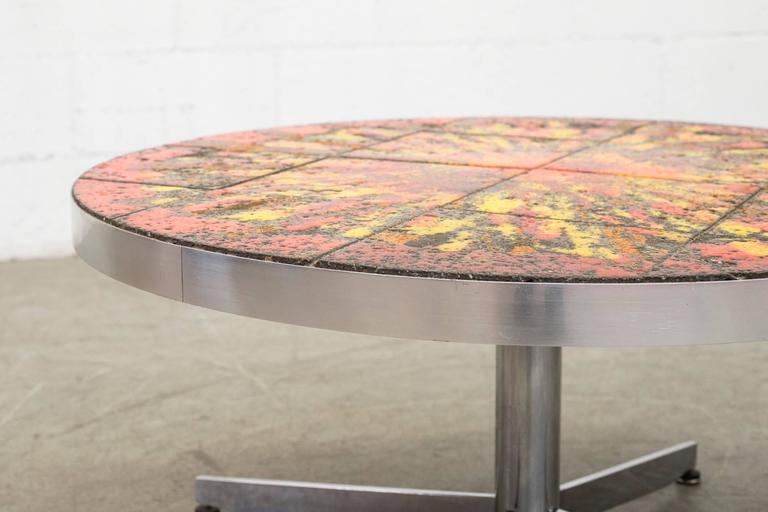 Dutch Artistic Belarti Style Tile Table Coffee Table For Sale