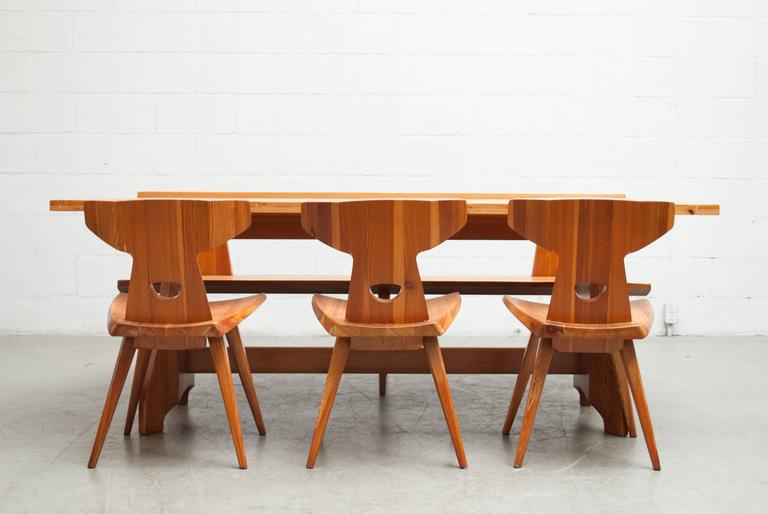 Pine Dining Set By Jacob Kielland Brandt For I. Christiansen