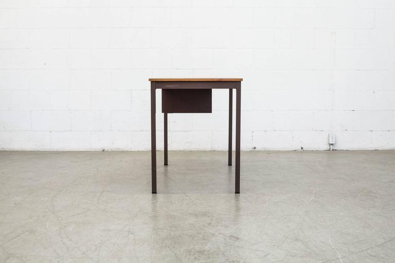 Mid-Century Modern Industrial Metal Desk For Sale