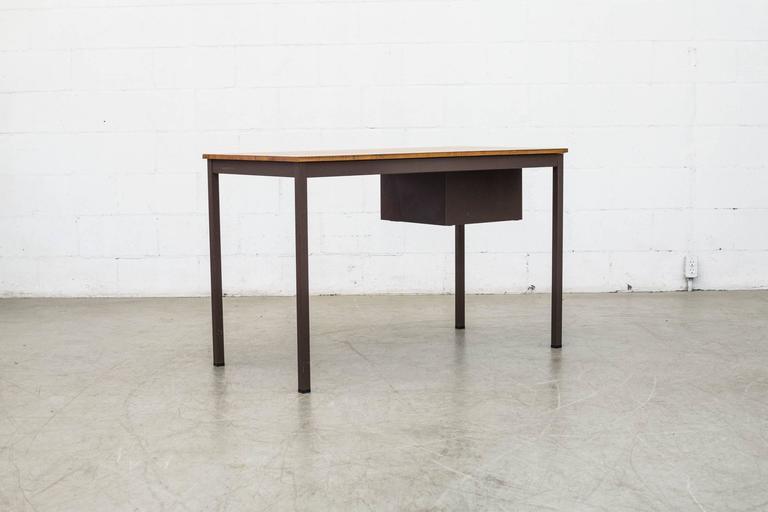 Dutch Industrial Metal Desk For Sale