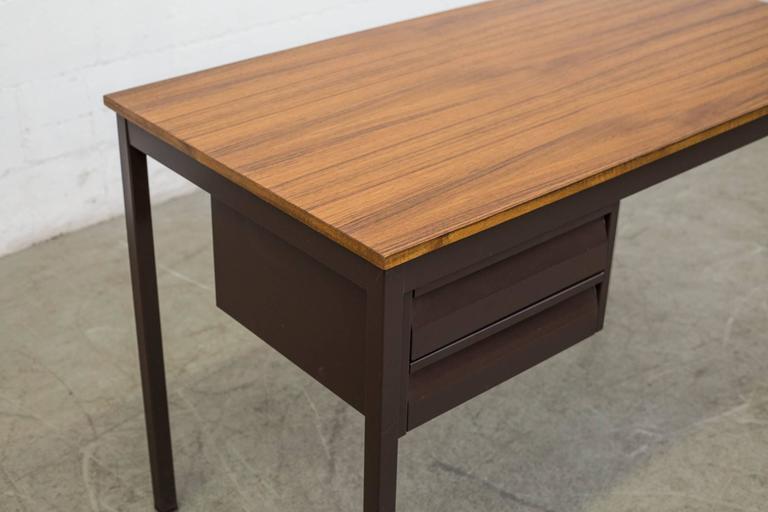 Industrial Metal Desk In Good Condition For Sale In Los Angeles, CA