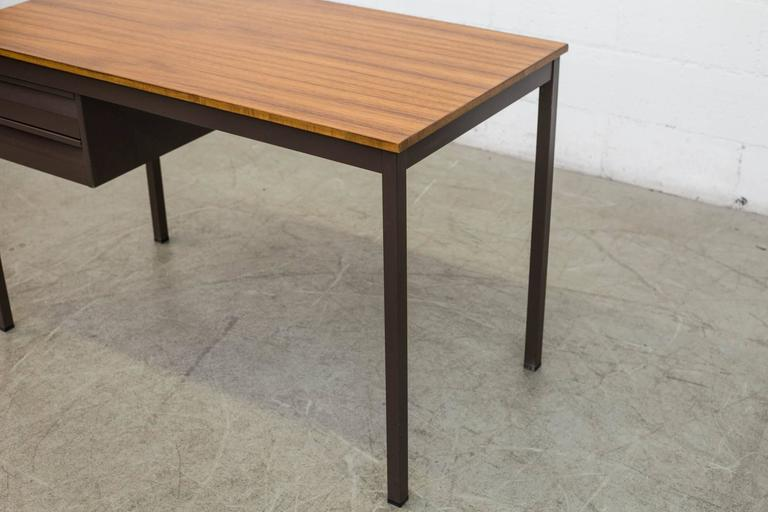Mid-20th Century Industrial Metal Desk For Sale