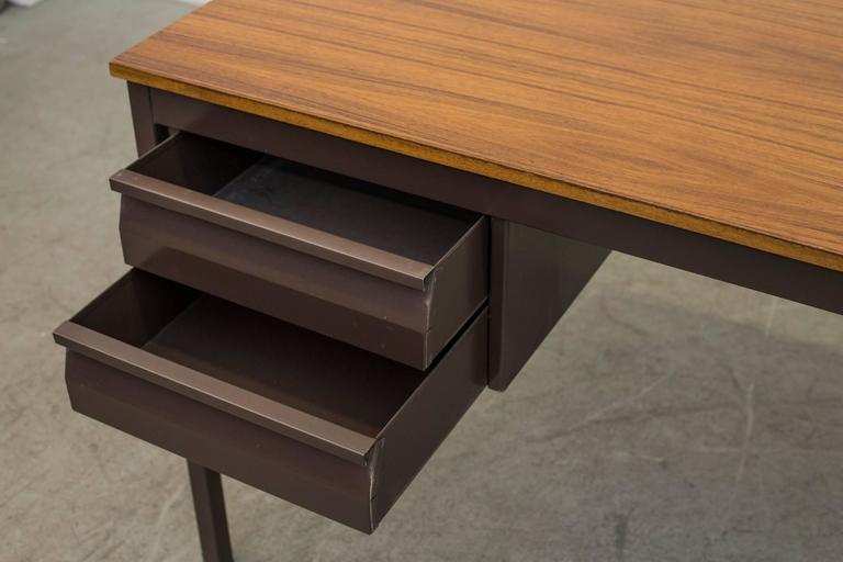 Industrial Metal Desk For Sale 1