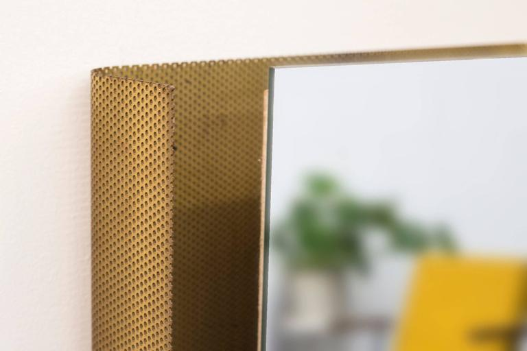 Mid-Century Modern Artimeta Soest Rectangle Wall Mount Perforated Mirror For Sale