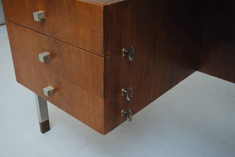 Alfred Hendrickx attributed Teak Writing Desk In Good Condition For Sale In Los Angeles, CA