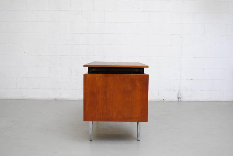 Mid-Century Modern Cees Braakman Desk with Hairpin Legs For Sale