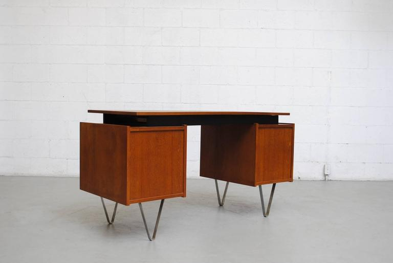 Dutch Cees Braakman Desk with Hairpin Legs For Sale