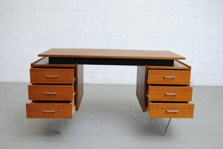 Cees Braakman Desk with Hairpin Legs 6
