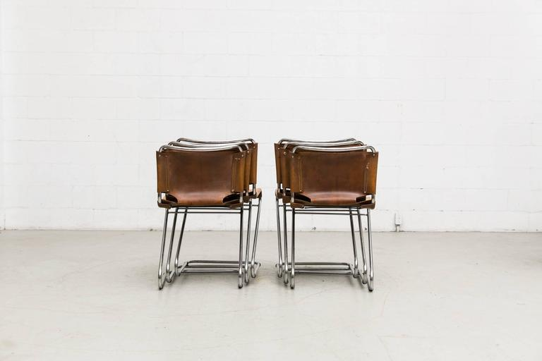 Mid-Century Modern Set of Six Biscia Chairs by Pascal Mourgue for Steiner Meubles For Sale