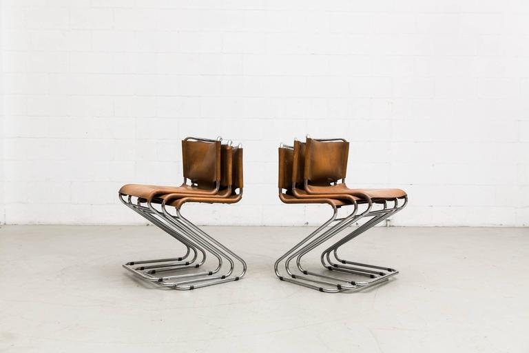 Mid-20th Century Set of Six Biscia Chairs by Pascal Mourgue for Steiner Meubles For Sale