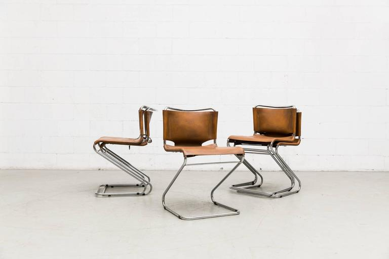 French Set of Six Biscia Chairs by Pascal Mourgue for Steiner Meubles For Sale