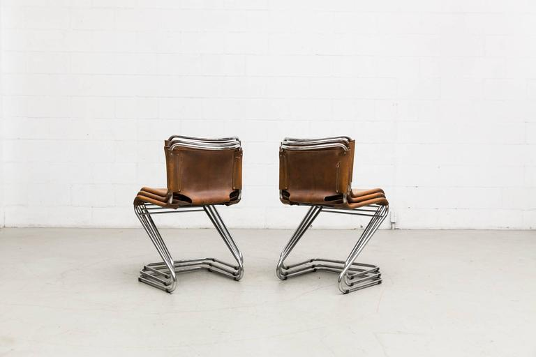 Set of Six Biscia Chairs by Pascal Mourgue for Steiner Meubles In Good Condition For Sale In Los Angeles, CA