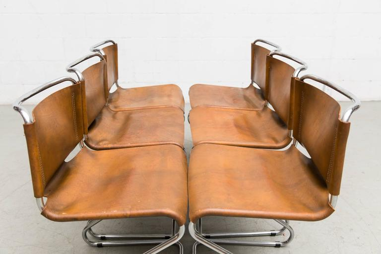 Set of Six Biscia Chairs by Pascal Mourgue for Steiner Meubles For Sale 1
