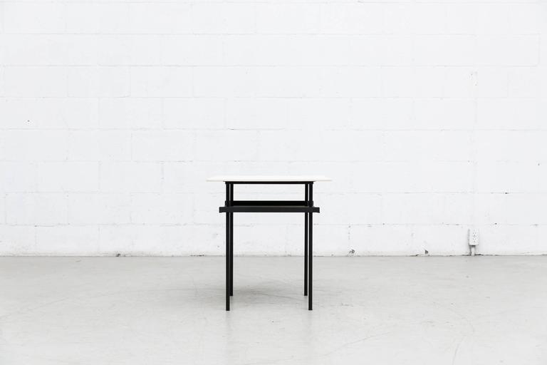 Dutch Wim Rietveld for Auping Industrial Side Table For Sale