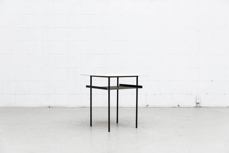 Mid-Century Modern Wim Rietveld for Auping Industrial Side Table For Sale