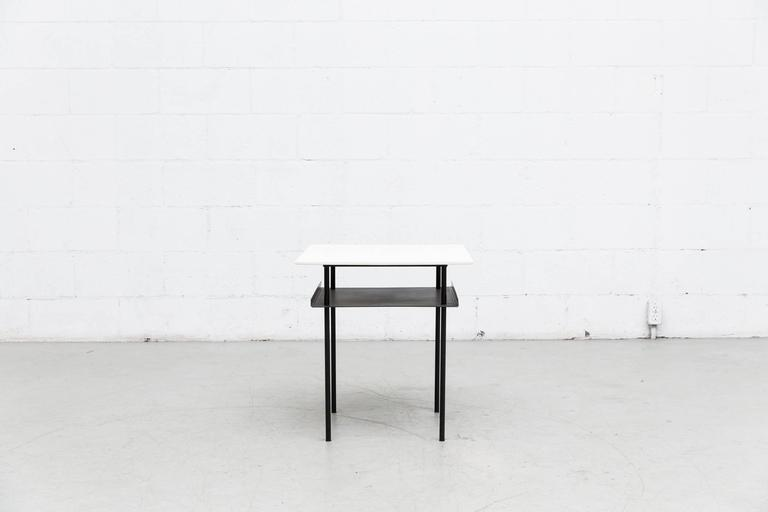 Enameled Wim Rietveld for Auping Industrial Side Table For Sale