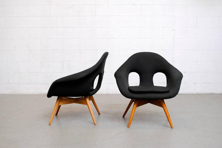 Pair of Bucket Lounge Chairs by Miroslav Navrátil for Vertex 2