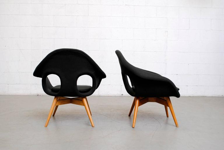 Pair of Bucket Lounge Chairs by Miroslav Navrátil for Vertex 3
