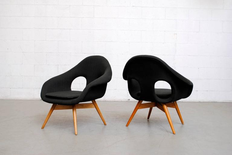 Pair of Bucket Lounge Chairs by Miroslav Navrátil for Vertex 4
