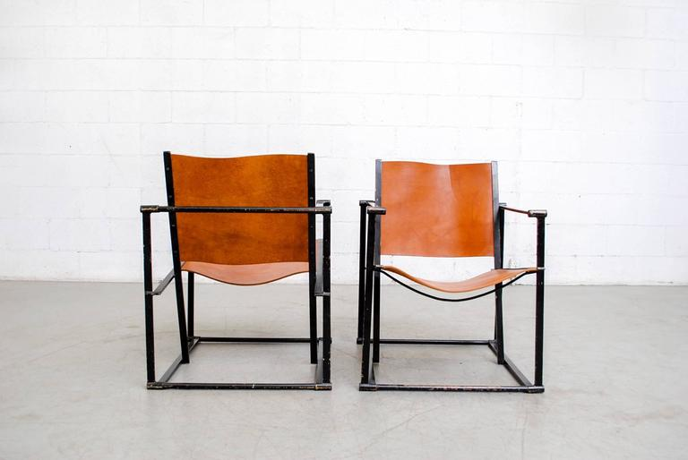 Dutch Pair of Cube Lounge Chairs by Radboud Van Beekum for Pastoe For Sale