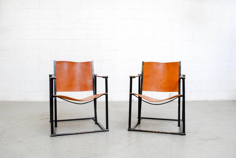 Mid-Century Modern Pair of Cube Lounge Chairs by Radboud Van Beekum for Pastoe For Sale