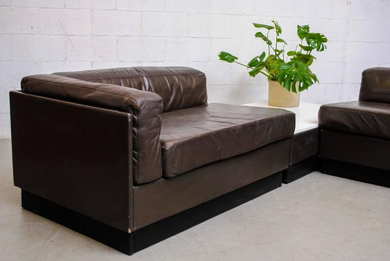 Jan des bouvrie custom long leather sectional sofa for for Long couches for sale