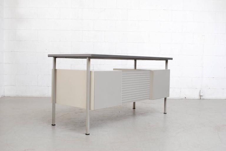 Dutch Gispen Industrial Desk by a.R. Cordemeyer For Sale