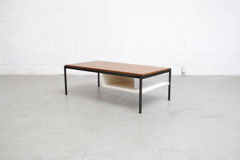Coen de Vries Teak  and Metal Coffee Table 2