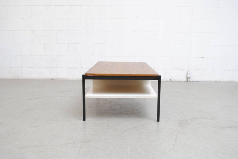 Coen de Vries Teak  and Metal Coffee Table 3