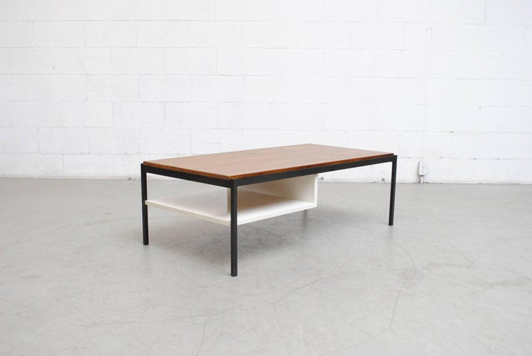 Coen de Vries Teak  and Metal Coffee Table 4