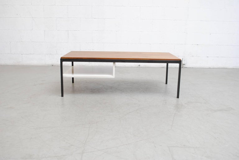 Coen de Vries Teak  and Metal Coffee Table 5