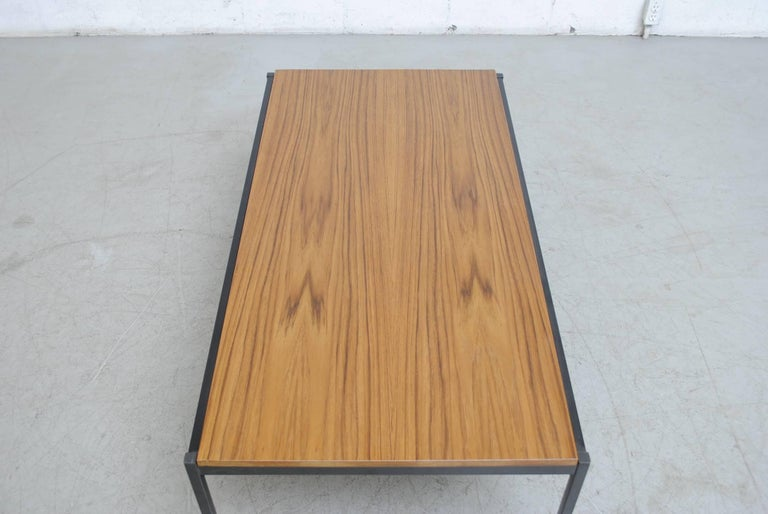 Coen de Vries Teak  and Metal Coffee Table 6