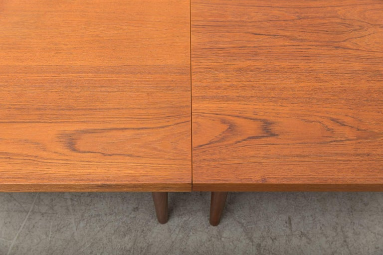 Handsome Pair of Square Teak Side or Coffee Tables 6