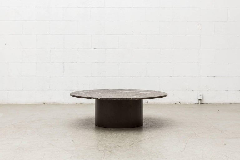 Rare Round Fossil Metaform Coffee Table 2