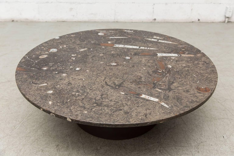 Rare Round Fossil Metaform Coffee Table 3