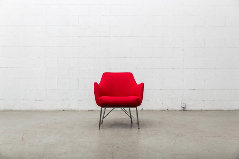 Pair of Red Ekelius Lounge Chairs for Pastoe 2