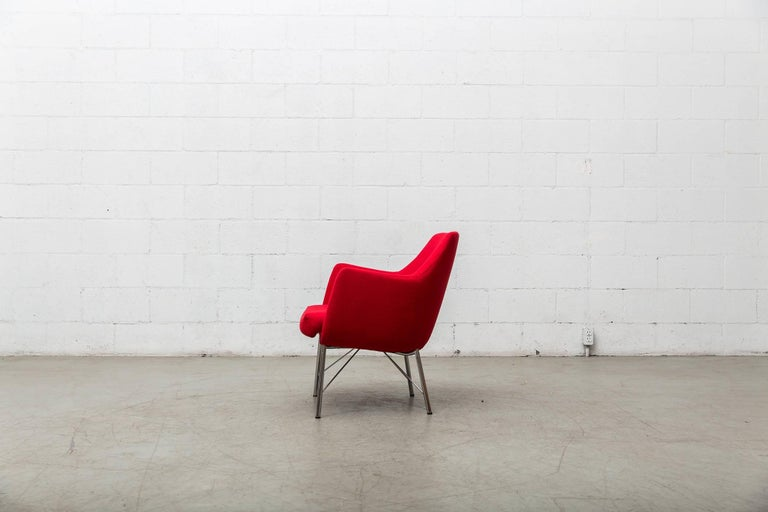 Pair of Red Ekelius Lounge Chairs for Pastoe 4